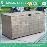 Patio Rattan Cushion Storage Wicker Cushion Box (Magic Style)