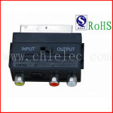 Scart Male to 3RCA Female and Mini4p Female Switch Adapter