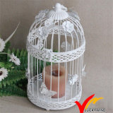 Antique Decorative Wedding Gift Metal White Candle 32cm Lantern