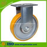 125mm Rigid Caster with Yellow PU Wheel
