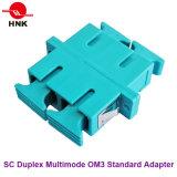 Sc Duplex Multimode Om3 Standard Plastic Fiber Optic Adapter