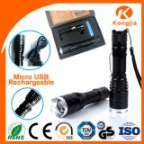 Factory Wholesale Price Most Powerful Aluminium LED Rechargeable Flashlight Torch