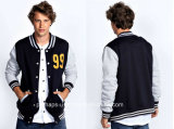 Embroidery and Button Placket Fashion Baseball Jacket