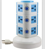 3 Layers American Electric Plug Socket with Retractable Cord