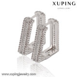 91738 Fashion Charm Crystal CZ Rhodium Trapezium-Shaped Women Imitation Jewelry Earring
