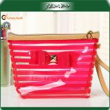 Semi Transparent Fashion Trendy Newly Zipper PVC Handbag