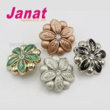 high End Flower Shape Decorative Plastic Button