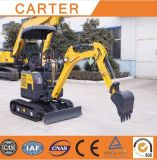 CT16-9dp with Zero Tail&Retractable Chassis Mini Digger