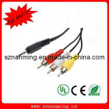 Wholesale 3.5mm Mini AV to 3 RCA Male Audio Video Cable for HDTV