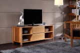 Modern Luxurious Natural Bamboo TV Rack with Cabinet