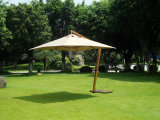 Aluminun Cantilever, Hanging Parasol, Umbrella in Wooden-Grain Finish (X30308-HNG-AA02-MW)