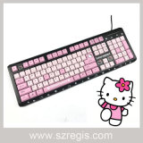 Cute Toner Black Hellokitty Doraemon Wired Multimedia Keyboard