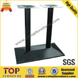 Rectangular Top Steel Base Restaurant Table