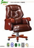 Swivel Leather Executive Office Chair with Solid Wood Foot (FY1307)