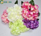 Mixed Colour Hydrangea Bush Silk Flower