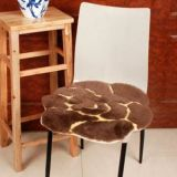 Modern Flower Design High Quality Sheepskin Stool Cushion