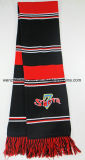 100% Acrylic Knitted Soccer Scarf