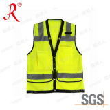 Hi Viz Reflective Vest/Safety Vest with Pockets (QF-557)