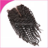 Indian Curly Middle Part Virgin Human Hair Lace Closure