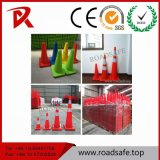 Roadsafe Traffic Safety 45cm Retractable Reflective Traffic Cone with Black Base