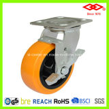 100mm Swivel Plate with Single Brake Caster (P701-36FA100X50Z)