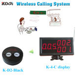 433.92MHz Service Equipment Wireless Visual Pager Wireless Calling System