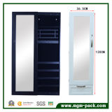 Wall Fixed Wooden Storage Cabinet with Mirror