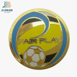 Free Sample Alloy Casting Enamel Custom Football Coin for Sports