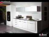 Polyurethane White High Gloss Kitchen Cupboard Designs