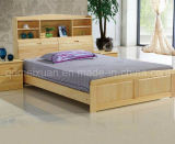 Solid Wooden Bed Modern Double Beds (M-X2235)