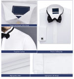 Slim Fit White Cotton Dress Shirts Men′s Business Shirt