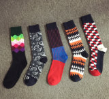 Fashion British Grid Gradient Cotton High Quality Colorful Men′s Socks