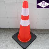28 Inch Orange Reflective Flexible PVC Traffic Cones