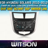 Witson Car DVD for Hyundai Solaris Car DVD GPS 1080P DSP Capactive Screen WiFi 3G Front DVR Camera
