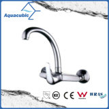 Wall-Mounted Chromed Zinc Kitchen Faucet (AF1201-5B)