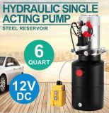 Hydraulic Double Acting Pump 12V DC - 8 Litre Steel Reservoir