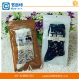 Transparent Poly Self Closing Plastic PE Zip Lock Bags for Socks or Undewear Packaging