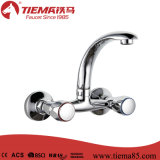 New Design Polished Brass Wall Kitchen Mixer (ZS65703)