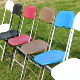 Different Color Plastic Folding Chair with Steel Frame