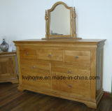 7 Drawers Solid Chest Oak Bedroon Modern Wooden Furniture