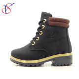 Family Fitted Kids Children Injection Safety Working Work Boots Shoes for Outdoor Job (SVWK-1609-046 BLACK)