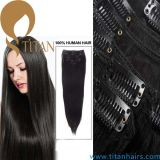 100% Human Remy Hair Clip on Hair Extension (TT492)