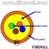 4 Cores Indoor Bundle Distribution Optical Fiber Cable 0.9mm Inside