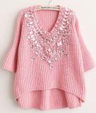 3/4 Sleeve Sweater with Diamond