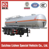 3-Axle 33000L Stainless Steel Tank Semi Trailer for Corrosive Liquid