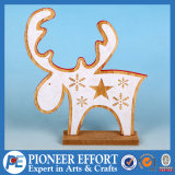 Wooden Christmas Reindeer Design for Top Table Decor