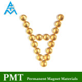 D17 Golden Permanent NdFeB Magnet with Neodymium Magnetic Material