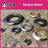 High Quality Flat Shape Metal Shiny Eyelet Button Grommets for Decoration