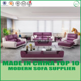 Modern Office Furniture Genuine Leather Wooden Sofa