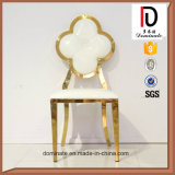 Hot Sale Rose Gold Flower Design Stainless Steel Chair for Dining Room
